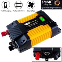 Power Inverter Solar Car Boat Inverters Converter DC 12V To AC 220V USB Charger Modified Wave with Display
